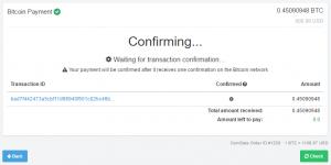 Confirming Bitcoin Invoice