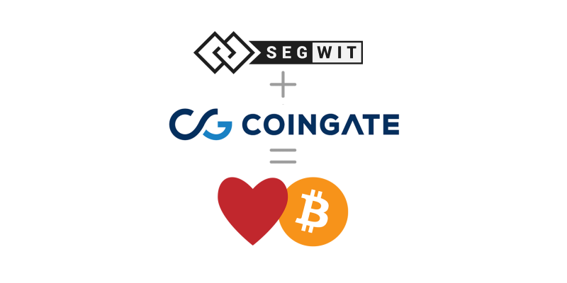 CoinGate supports SegWit