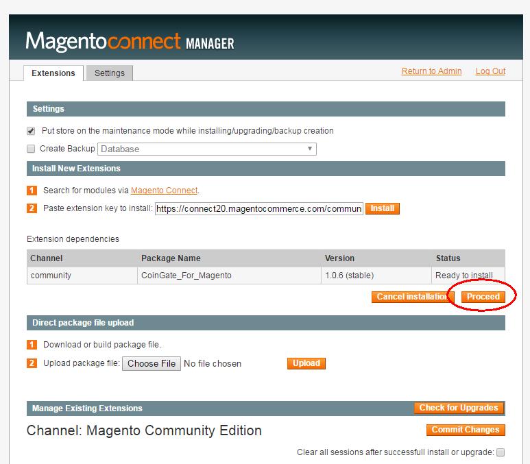 Install Bitcoin for Magento