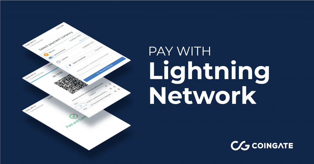 Lightning Network - accept LN payments with CoinGate