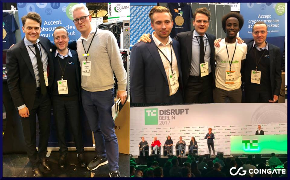CoinGate at TechCrunch Disrupt 2017