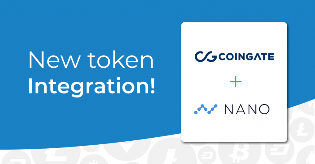 NANO integration ot CoinGate