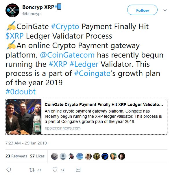 CoinGate xrp validator