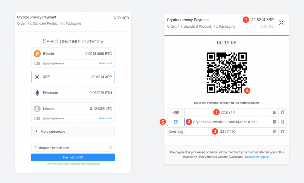 xrp coingate pay