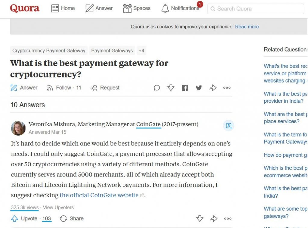 bitcoin marketing quora