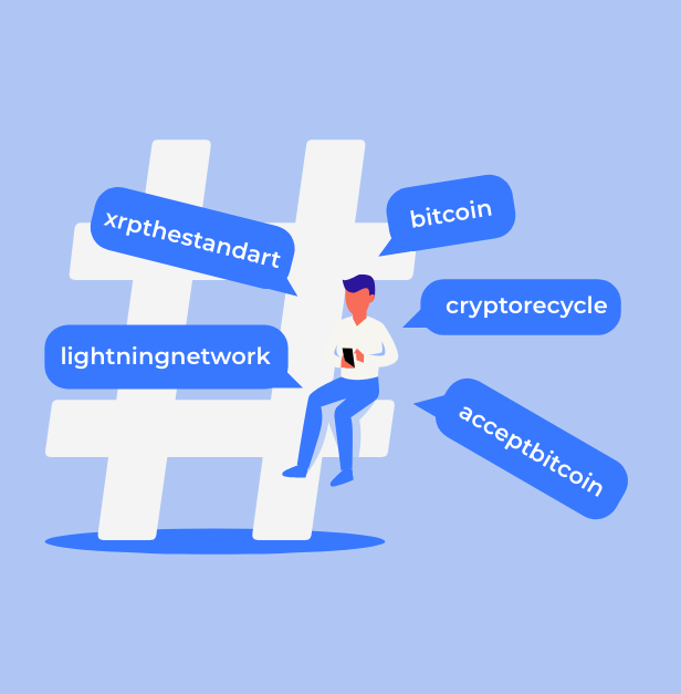 bitcoin marketing what hashtags to use