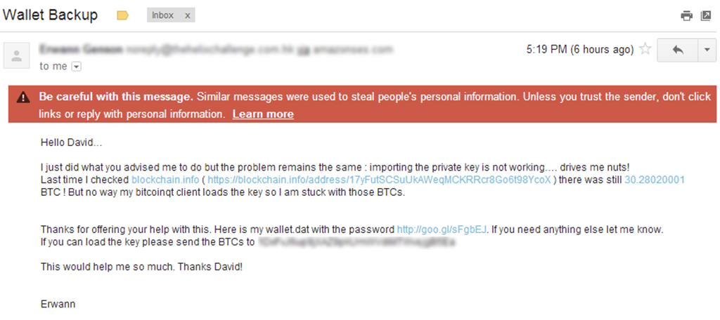 phishing attempt crypto mining