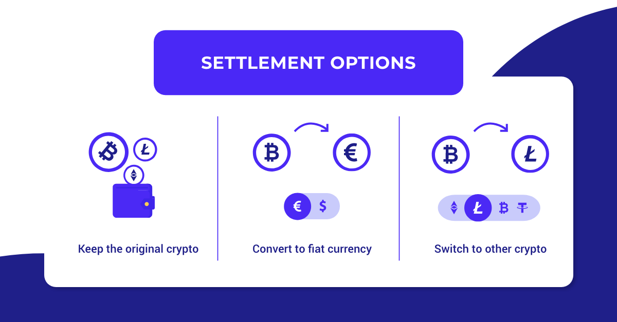 crypto to fiat settlements
