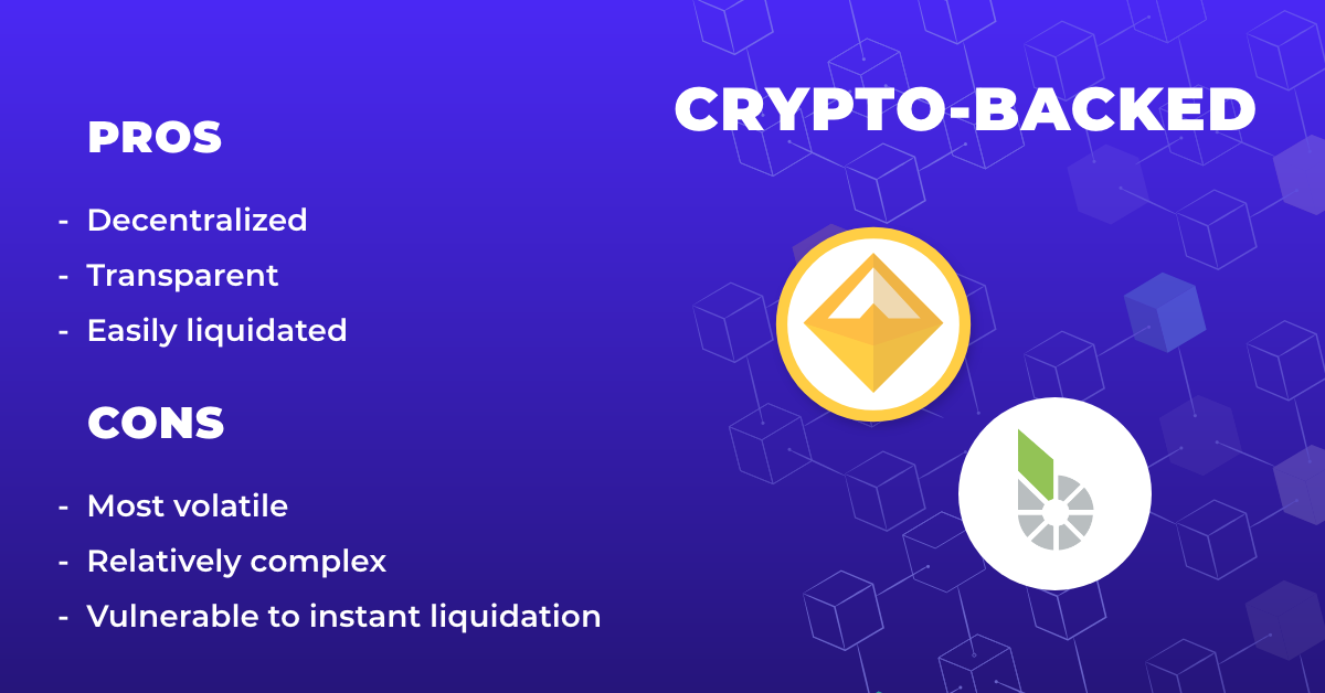 crypto pegged stablecoin pros cons