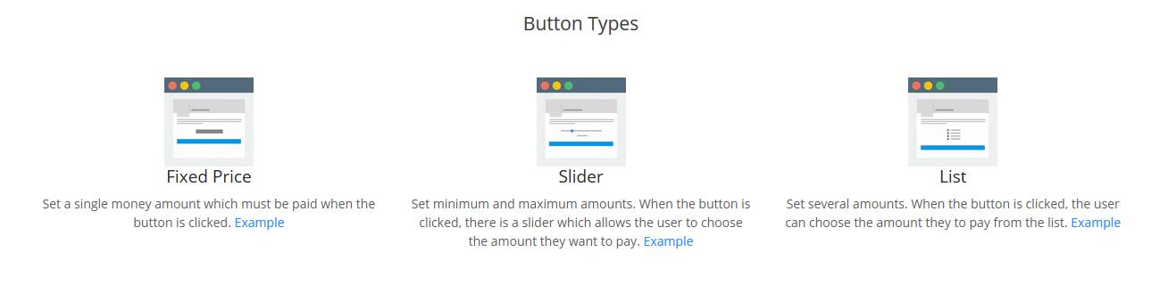 crypto button types