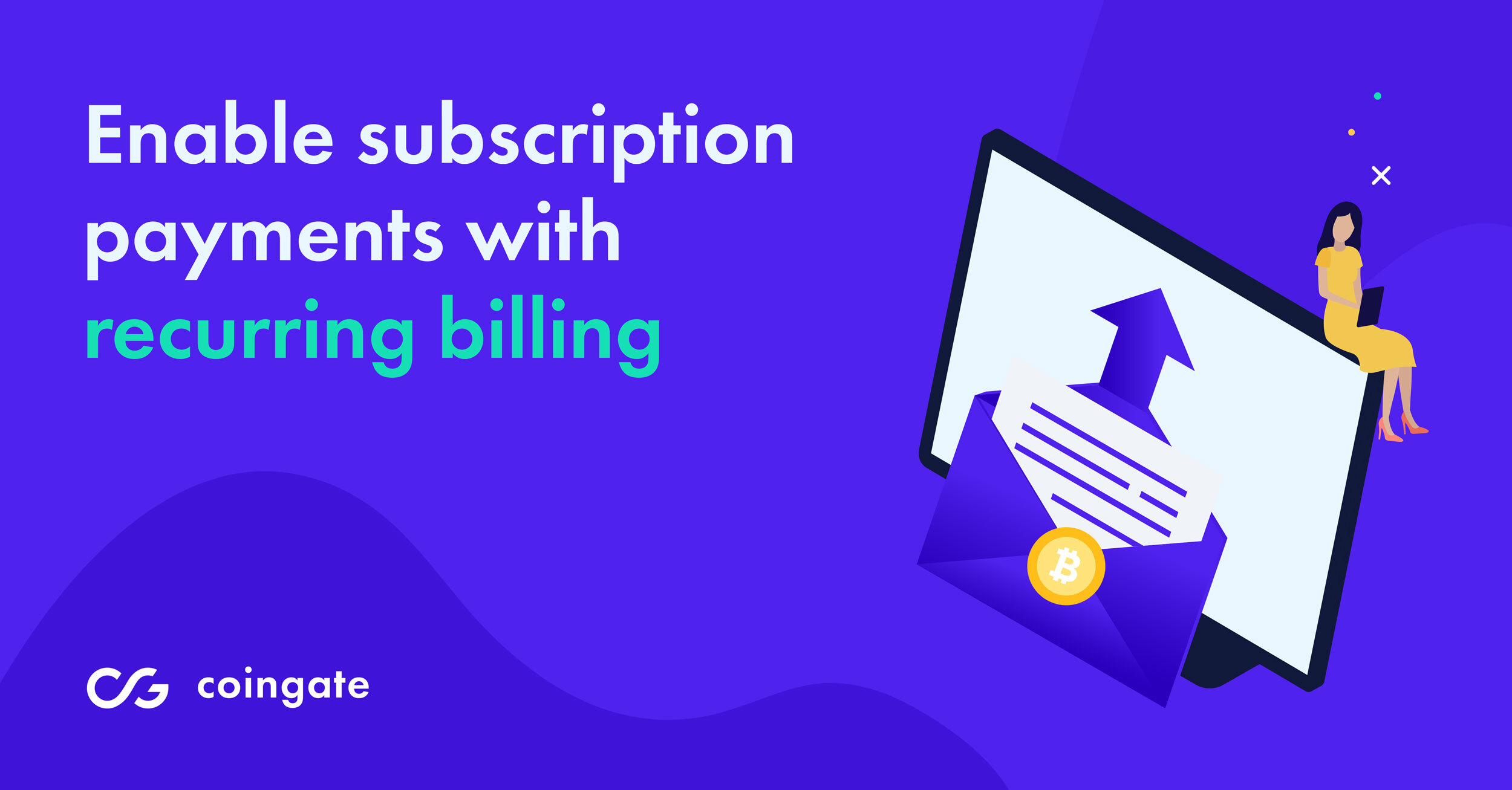 reccuring email billing option for cryptocurrencies
