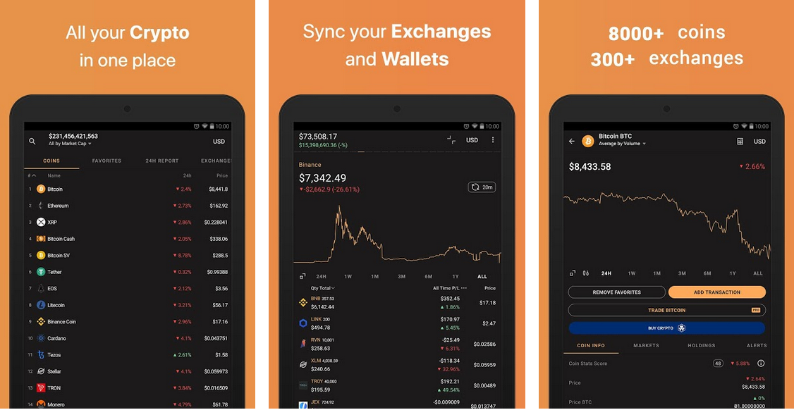 coin stats app for mobile android and iOS