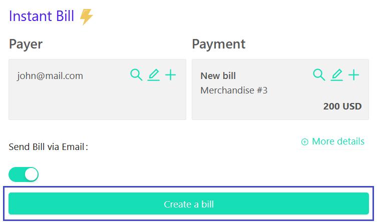 how to create crypto bill