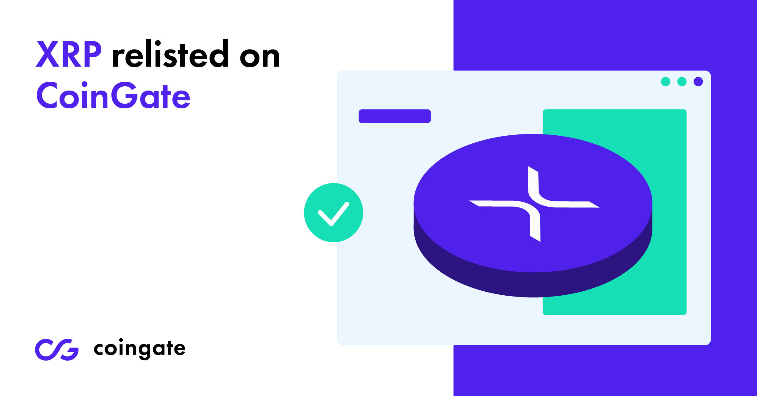 xrp relisted on CoinGate