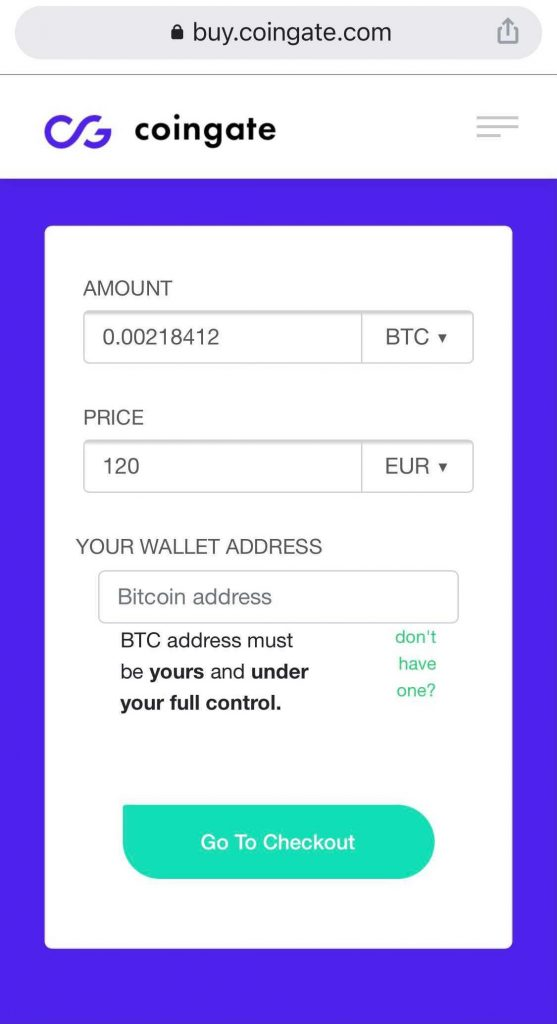 Buy Crypto with apple pay